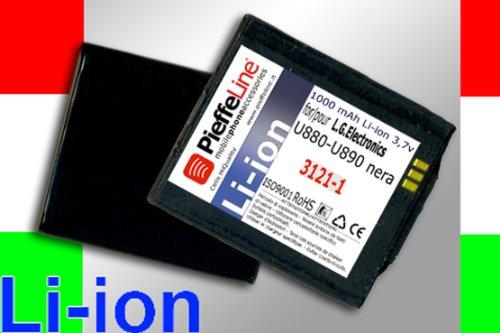 Batteria compatibile per LG ELECTRONICS U880 U890 NERA 1000 MAH A LITIO