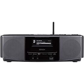 Denon S-52 Wireless Network Music System with Built-in Speakers and Alarm Clock