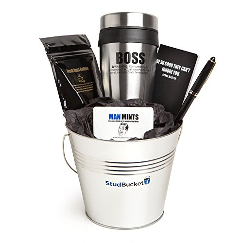 Gift Baskets Ideas For Him - Graduation - Congratulations - Promotion New Job Gifts for Men - Mug - Coffee - Speedy Delivery with Custom Message