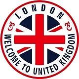 トラベルステッカー イギリス ロンドン 旅行シール~スーツケース・タブレットPCに