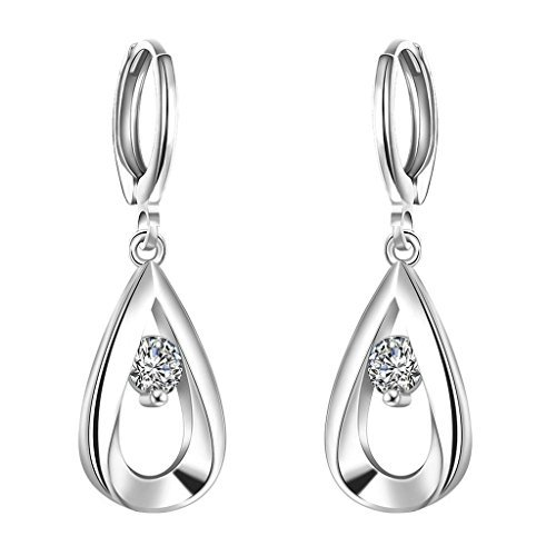 Adisaer-18K-Weiss-Gold-Platin-Damen-Tropfen-Ohrringe-Diamant-Hohl-Trnenblech-Zirkonia-Teardrop-Crystal-Elemente-Eco-Freundlich