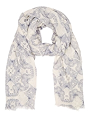 Indigo Collection Lightweight Butterfly Scarf