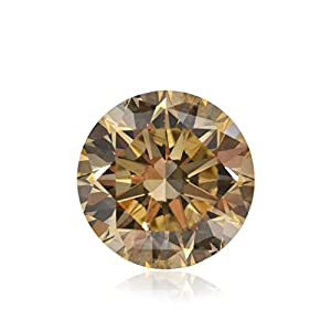 1.70 Carat Light Brown Loose Diamond Natural Color Round Cut GIA Certified