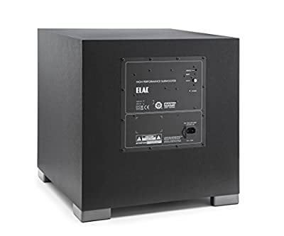 ELAC S12EQ Debut Series 1000 Watt Powered Subwoofer by Andrew Jones with AutoEQ by ELAC AMERICAS LLC