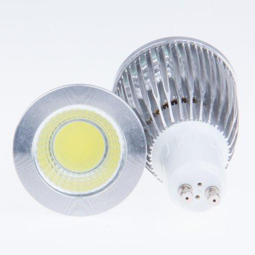 Sunsbell Cob Led Dimmable Light Bulbs Gu10 7W High Power Spotlight Lamp 110V Cool White 50W Equivalent