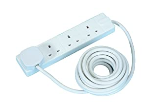 Masterplug 13 A 5 m 4 Gang Extension Lead - White