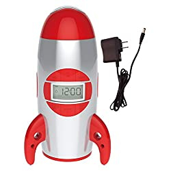 Big Red Rooster BRRC100AC Rocket Ship Projection Alarm Clock, Operates On 3 C Batteries (Not Included) or An Ac Adaptor (Included)