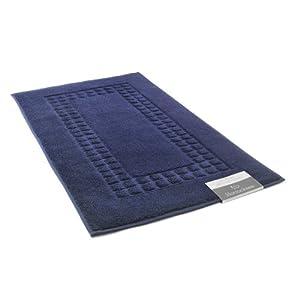 Chortex horrockses tapis de bain bleu marine for Tapis salle de bain bleu marine