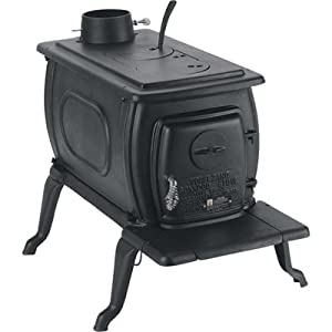 U.S. Stove Company BX42E Vogelzang Boxwood Deluxe Cast Iron Wood Burning Stove, 1200 Square Feet from U.S. Stove Company