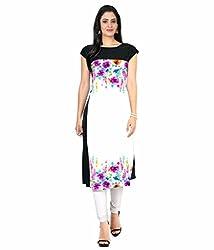 Shivam Women's Crepe Kurti (DGD124_Multi-Coloured_38)