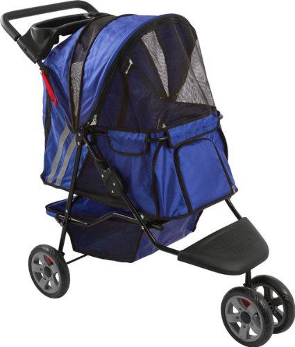 Blue Zephyr 3-Wheel Pet Jogging Stroller front-758507