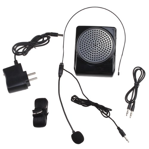 Agptek® Mini Microphone Megaphone Loudspeaker 3 In 1, Can Work With Mp3, Mp4, Cell Phone, And Computer