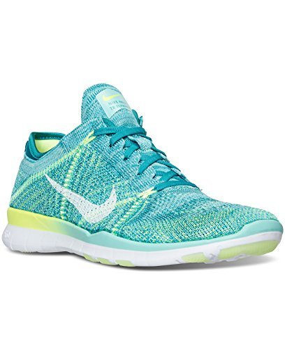 Nike Womens Shoes Free TR Flyknit Running Sneakers Turquoise White 718785-302 (8 M US)