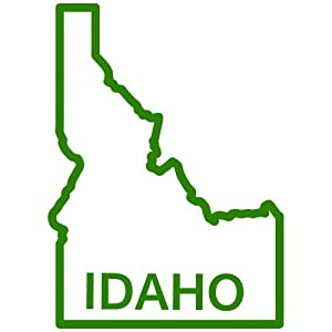 Amazon.com - Idaho State Outline Decal Sticker (green, 5 inch) - Wall