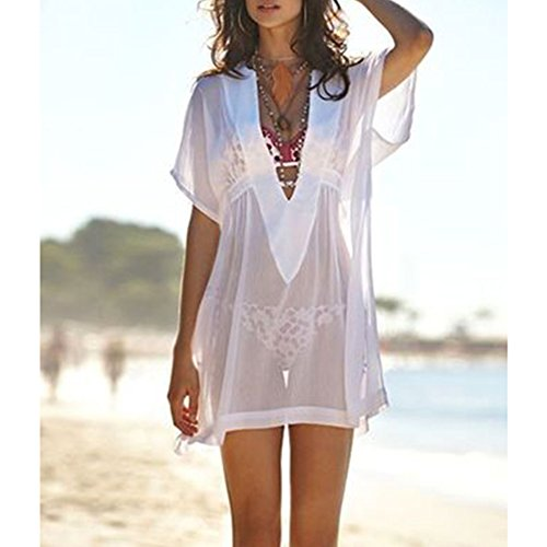 3be50a1fb MG Collection® Fashion Sheer Chiffon V-Neck Swimsuit Cover Up / Beachwear  Dress