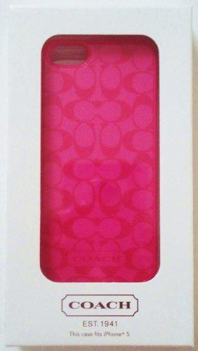 Best Price Coach Signature Iphone Case 5 Pink