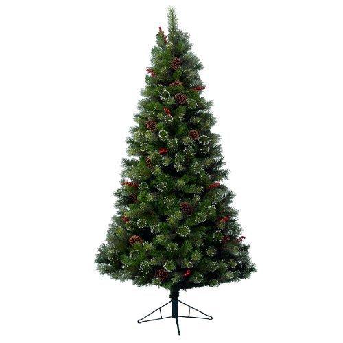 Kaemingk 689161 Snowy Glenmore Spruce, Fichte gefrostet, Soft - und Hartnadel Mix, innen, Höhe 180 cm thumbnail