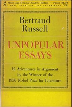 Unpopular Essays Quotes