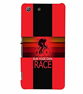 PrintVisa Sports Race 3D Hard Polycarbonate Designer Back Case Cover for Sony Xperia M5 Dual