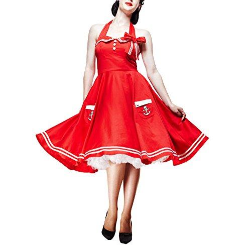 Hell Bunny -  Vestito  - halterneck - Donna rosso X-Small