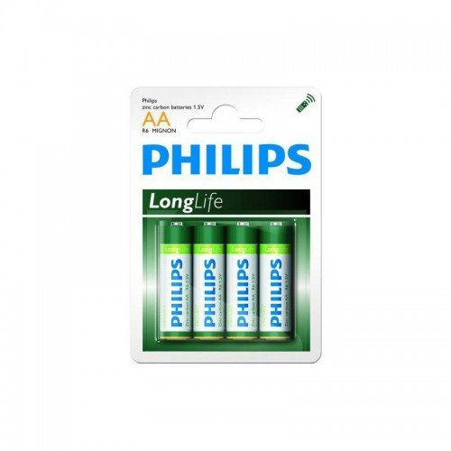Pack de 4 piles Philips Longlife R06 Mignon AA - 4864