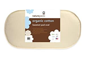 Naturepedic No Compromise Organic Cotton Oval Bassinet Pad