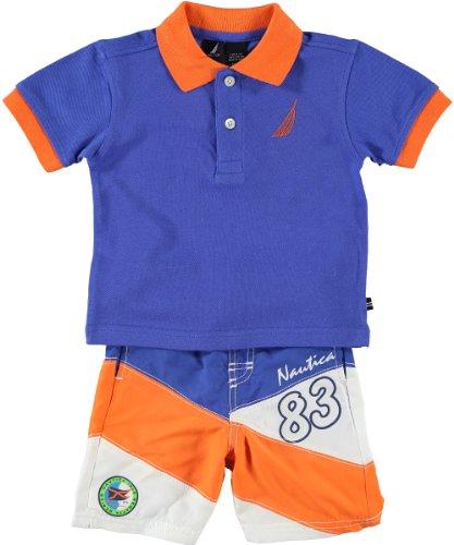 nautica-set-poloshirt-shorts-badeshorts-12-18-monate-junge-74-80