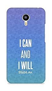 AMEZ i can and i will watch me Back Cover For Meizum 2 Note