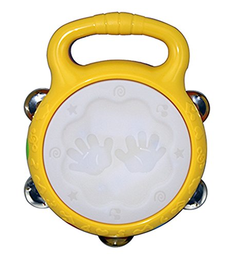 Electronic Toy Tambourine Hand Drum Musical Instrument for Kids with Music and Lights