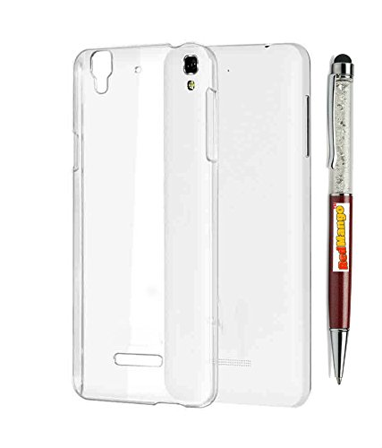 RedMango Soft Silicone Back Cover Case for Micromax Yu Yureka AO5510 - Transparent + Free Crystal Diamond Touch Screen Stylus Pen