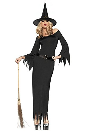 GALHAM - Long Sleeve Adult Sexy Wicked Witch Magic Cosplay Women Costume