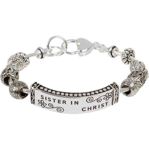 Sister in Christ European Charm Bead Faith Bracelet