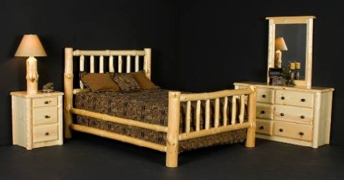 Viking Log Furniture Frontier Bed Panel Bed