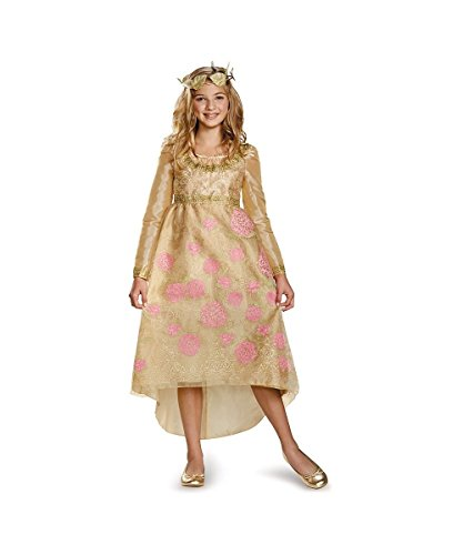 Disney Maleficent Aurora Coronation Gown Girls Costume deluxe