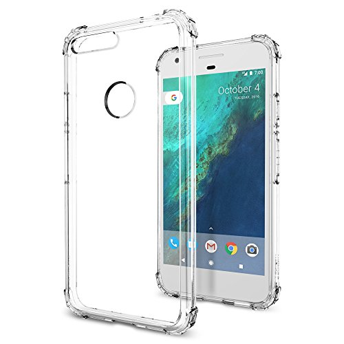 Spigen-Crystal-Shell-Google-Pixel-XL-Case-with-Clear-back-panel-and-Reinforced-Corners-on-TPU-bumper-for-Google-Pixel-XL-2016-Crystal-Clear