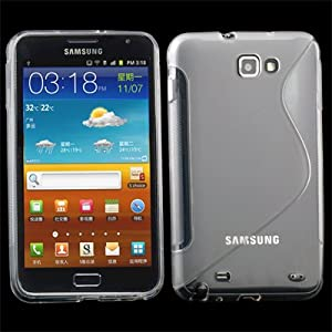 Clear S-Line Soft TPU gel case cover for Samsung Galaxy Note