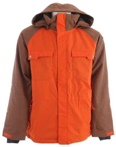 Ride Ballard Snowboard Jacket Dark Orange Mens Sz L