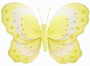 blancas triple capa de nylon Decoración Mariposas. Decorar
