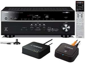Yamaha RX-V675 7.2 Channel Network AV Receiver with Airplay + Yamaha Bluetooth & Yamaha Wireless Adapters