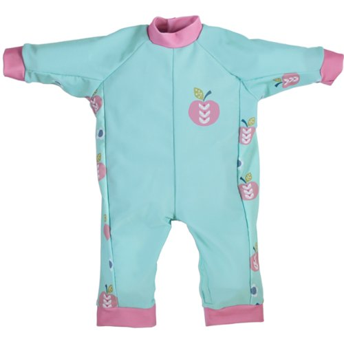 Splash About Uv (Spf50+) Sun Protection All In One Sun Suit/Eczema Suit (12-24 Mths (Chest: 61Cm Length: 38Cm), Apple Daisy) front-205370
