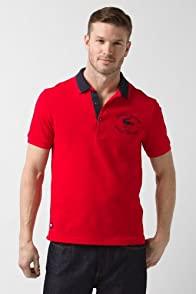 Short Sleeve Embroidered Croc Pique Polo Shirt