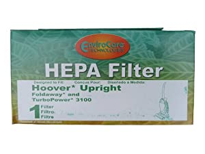 (1) 40130050 Hoover Fold Away Turbo Power 3100 HEPA Pleated filter, Upright, Bageless, Widepath Vacuum Cleaners, 43615090, U5172900, U5175900,