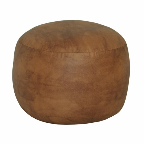 Leather Luxe Bean Bag  Bigfoot Footstool, Leather