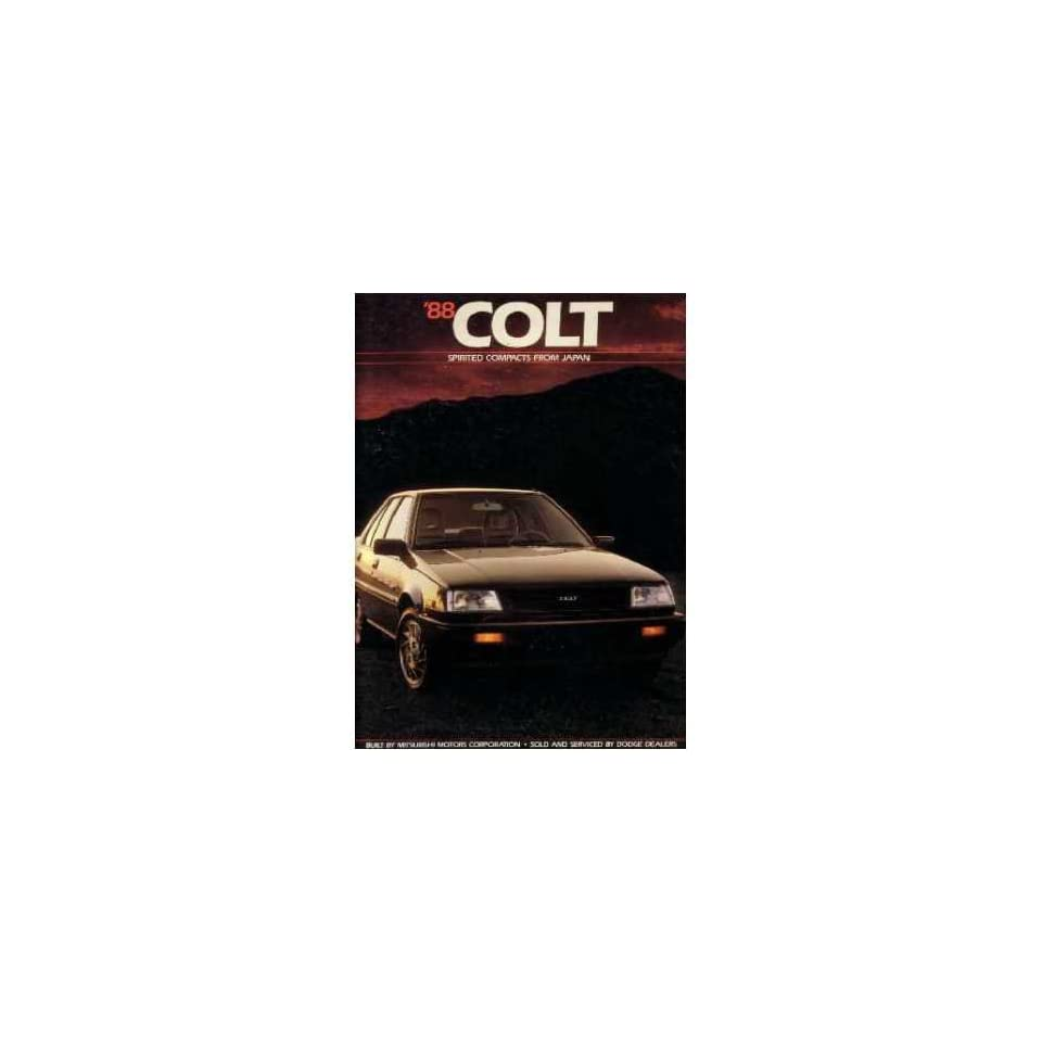 1988 Dodge Colt Sales Brochure Literature Book Advertisement Options Specs