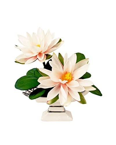 Creative Displays Lotus Blossom Pedestal Arrangement, White/Pink/Green