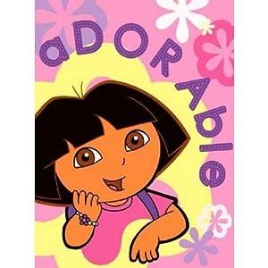 Kids/Childrens Dora the Explorer aDORAble Pink Printed Fleece Blanket (125 x 150cm)