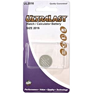 Ultralast Watch/Electronic Lithium Button Cell Battery Retail Pack - DL2016 Equivalent