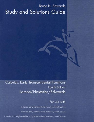 Study Guide for Stewart's Single Variable Calculus: Early ...