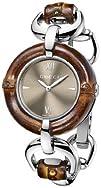 Gucci Womens YA132402 Bamboo Brown Sun-Brushed Dial Watch