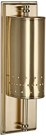 Robert Abbey 7400 Milo - One Light Small Wall Sconce, Natural Brass Finish with Clear Glass